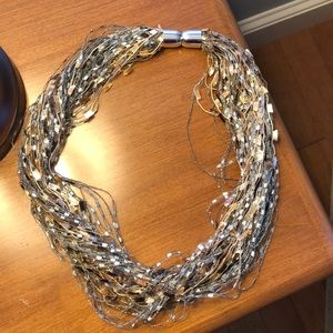 Magnetic clasp fabric necklace